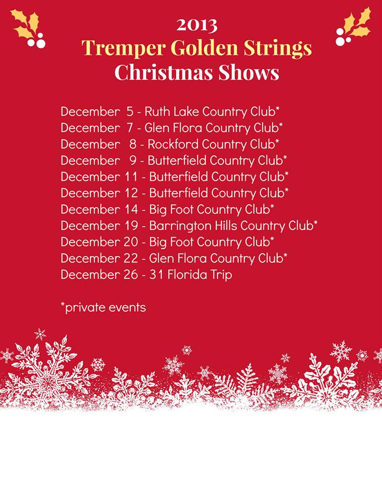 2013 Christmas Shows