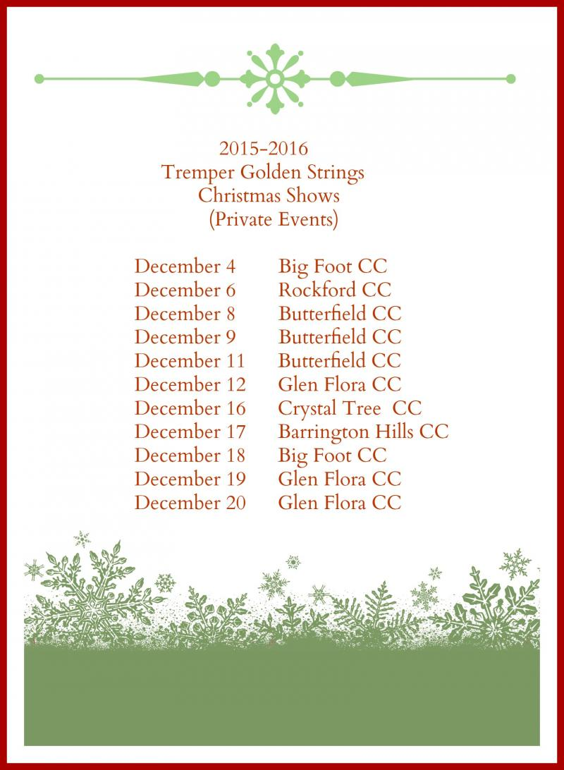 2015-16 CHRISTMAS SHOWS
